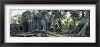 Framed Old ruins of a building, Angkor Wat, Cambodia