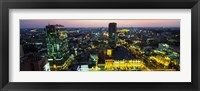Framed High angle view of a city lit up at night, Ho Chi Minh City, Vietnam
