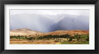 Framed Clouds over mountains, Andes Mountains, Urubamba Valley, Cuzco, Peru