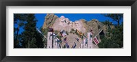 Framed Statues on a mountain, Mt Rushmore, Mt Rushmore National Memorial, South Dakota, USA