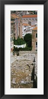 Framed High angle view of the old ruins in a town, Dubrovnik, Croatia