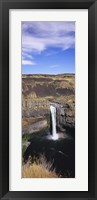 Framed High angle view of a waterfall, Palouse Falls, Palouse Falls State Park, Washington State, USA