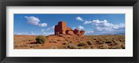 Framed Ruins of a building in a desert, Wukoki Ruins, Wupatki National Monument, Arizona, USA