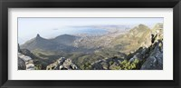 Framed High angle view of a coastline, Table Mountain, Cape town, South Africa