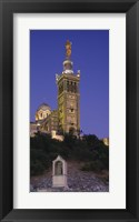 Framed Low angle view of a tower of a church, Notre Dame De La Garde, Marseille, France