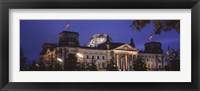 Framed Facade of a building at dusk, The Reichstag, Berlin, Germany