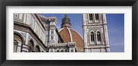 Framed Low angle view of a cathedral, Duomo Santa Maria Del Fiore, Florence, Tuscany, Italy