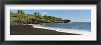 Framed Surf on the beach, Black Sand Beach, Maui, Hawaii, USA