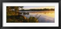 Framed Reflection of sunlight in water, Vuoksi River, Imatra, Finland