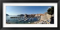 Framed Boats in the sea, Old City, Dubrovnik, Croatia