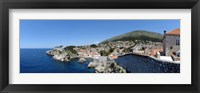 Framed Buildings at the waterfront, Adriatic Sea, Lovrijenac, Dubrovnik, Croatia