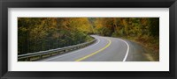 Framed Road passing through a forest, Winding Road, New Hampshire, USA