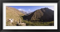 Framed Ruins of a village with mountains in the background, Atlas Mountains, Marrakesh, Morocco