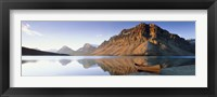 Framed Bow Lake, Banff National Park, Alberta, Canada