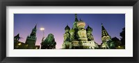 Framed Low angle view of a cathedral, St. Basil's Cathedral, Red Square, Moscow, Russia