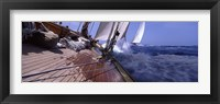 Framed Sailboats in the sea, Antigua, Antigua and Barbuda