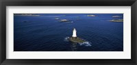 Framed Aerial view of a light house, Sakonnet Point Lighthouse, Little Compton, Rhode Island, USA
