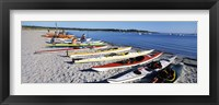 Framed Kayaks on the beach, Third Beach, Sakonnet River, Middletown, Newport County, Rhode Island (horizontal)