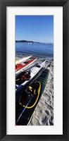 Framed Kayaks on the beach, Third Beach, Sakonnet River, Middletown, Newport County, Rhode Island (vertical)