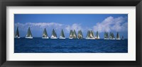 Framed Farr 40's race during Key West Race Week, Key West Florida, 2000
