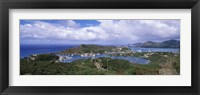 Framed Aerial view of a harbor, English Harbour, Falmouth Bay, Antigua, Antigua and Barbuda
