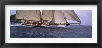 Framed Sailboat in the sea, Schooner, Antigua, Antigua and Barbuda
