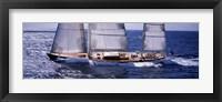 Framed Sailboat in the sea, Antigua (horizontal)