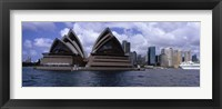 Framed Opera house at the waterfront, Sydney Opera House, Sydney Harbor, Sydney, New South Wales, Australia