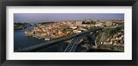 Framed Bridge across a river, Dom Luis I Bridge, Duoro River, Porto, Portugal