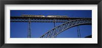 Framed Low angle view of a bridge, Dom Luis I Bridge, Duoro River, Porto, Portugal