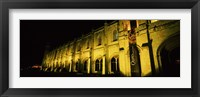 Framed Low angle view of a monastery at night, Mosteiro Dos Jeronimos, Belem, Lisbon, Portugal