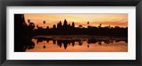 Framed Silhouette of a temple, Angkor Wat, Angkor, Cambodia