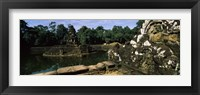 Framed Statues in a temple, Neak Pean, Angkor, Cambodia