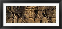 Framed Sculptures in a temple, Bayon Temple, Angkor, Cambodia