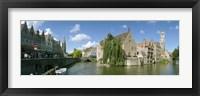 Framed Rozenhoedkaai, Bruges, West Flanders, Belgium