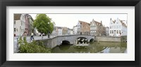 Framed Bridge across a channel, Bruges, West Flanders, Belgium