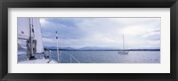 Framed Sailboats in a lake, Lake Starnberg, Munich, Bavaria, Germany