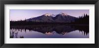 Framed Reflection of mountains in water, Banff, Alberta, Canada