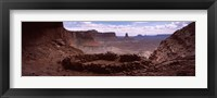 Framed Stone circle on an arid landscape, False Kiva, Canyonlands National Park, San Juan County, Utah, USA