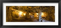 Framed Interiors of a prehistoric cave, Karain Cave, Ciglik, Antalya, Turkey
