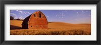 Framed Old barn in a wheat field, Palouse, Whitman County, Washington State