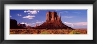Framed Rock formations on a landscape, The Mittens, Monument Valley Tribal Park, Monument Valley, Utah, USA