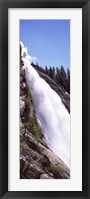 Framed Low angle view of a waterfall, Nevada Fall, Yosemite National Park, California, USA