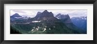 Framed Mountain range, US Glacier National Park, Montana, USA