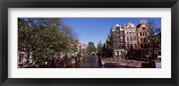 Framed Buildings in a city, Amsterdam, North Holland, Netherlands