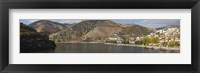 Framed Village at the waterfront, Pinhao, Duoro River, Cima Corgo, Douro Valley, Portugal