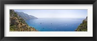 Framed Town at the coast, Positano, Amalfi Coast, Salerno, Campania, Italy
