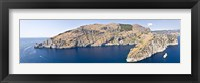 Framed Island in the sea, Punta Campanella, Bay of Ieranto, Capri, Naples, Campania, Italy