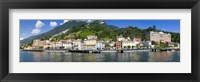 Framed Town at the waterfront, Tremezzo, Lake Como, Como, Lombardy, Italy