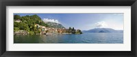 Framed Town at the lakeside, Lake Como, Como, Lombardy, Italy